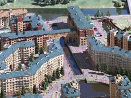 В РФ в первый раз поставили на реализацию квартиры на мосту