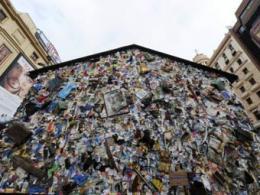 В Мадриде был замечен отель из мусора
