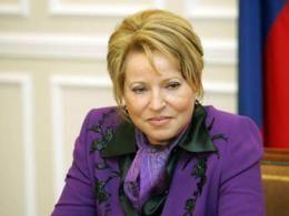 Матвиенко просила лишить Санкт-Петербург знаменательного статуса
