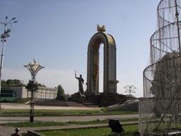 В Душанбе основали высокое сооружение Таджикистана
